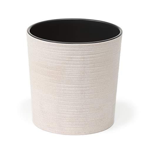 Lamela Malwa Dluto Pflanzgefäß für Kräuter, 190 mm Durchmesser, bis zu 40 % Holz, Fensterbankhalter, Balkon, Garten, Container, Heimdeko, Mix, Match! Spielen, Weiß