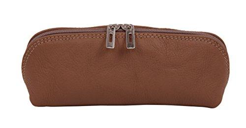 Fotografico 'Nicola' sul lato/case in vera pelle borsa disponibile in diversi colori, Marrone chiaro (Multicolore) - 4251042501987