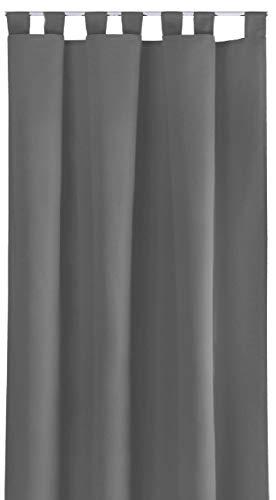 Bestlivings Blickdichte Gardine mit Schlaufen (140x245 cm/Dunkelgrau), in vielen Variationen