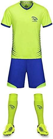 A/&H Fashion Boys Football Jersey Kids Soccer Kit with Socks