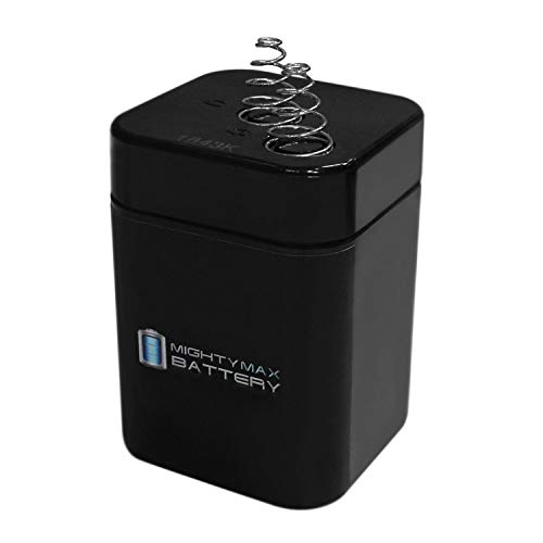 ML5-6S - 6V 5AH Sealed Lead Acid Lantern Battery with Spring Terminals- Mighty Max Battery Brand Product