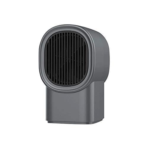 XTBB Calentador Eléctrico Portátil Mini Escritorio Calentador Silencioso Calentador Ventilador Invierno Cálido para Coche Oficina En Casa PTC Cerámica Calefactor De Calor Rápido Gris Claro