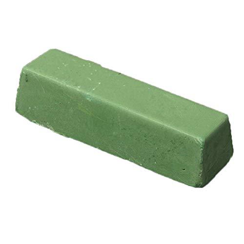 Healifty Polierpaste Polierwachs Schleifpaste Schärfpaste Streichriemenpaste Abziehpaste für Jade Leder Messer Schleif Zubehör (kleines grünes Wachs)