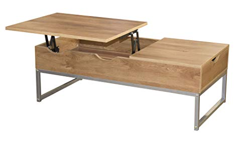 Mesa de café Mesa de salón Mesa de Centro de Madera con Tapa elevable Escritorio con cajón para Sala de Estar y Oficina