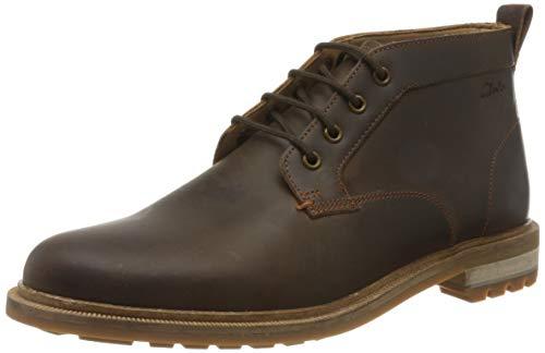 Clarks Herren Foxwell Mid Chukka Boots, Braun (Beeswax Leather Beeswax Leather), 43 EU