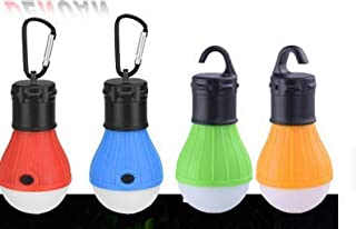 Etmury LED Camping Light with Carabiner Camping Lantern, 4 Pieces Portable Tent light Bulb Set Camping Lamps, Battery Powe...