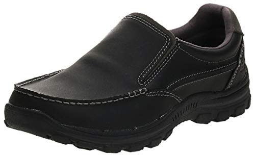 Black Leather Loafers Shoes for Men