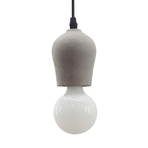 TopDeng Mini cement beton hanglamp, E27 gloeilamp industrieel creatief nachtkastje leeslamp hanglamp restaurant cafébar / pub vitrine