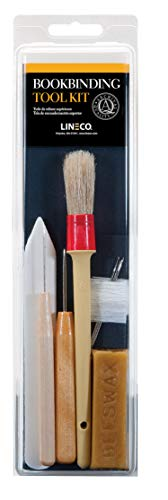 Lineco Bookbinding Tool Kit. Comes with Awls, Bone Folder, Bristle Brish, Bookbinding Needles, Linen Thread, and Beeswax.