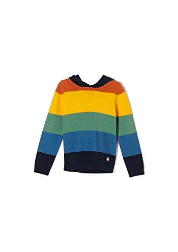 s.Oliver Jungen Pullover mit bunten Blockstreifen dark blue stripes 128/134.REG