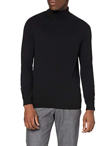 Amazon-Marke: find. Herren Pullover Roll Neck, Schwarz (Black Black), 3XL, Label: 3XL