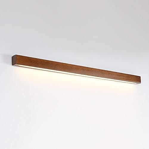 Yongjing Aplique de Metal Luz de Pared de Madera LED, Luces de Pared de Fondo de Tira Larga, iluminación Junto al Lado en el Dormitorio, para Sala de Estar Estudio Comedor Durable y Ahorra energía