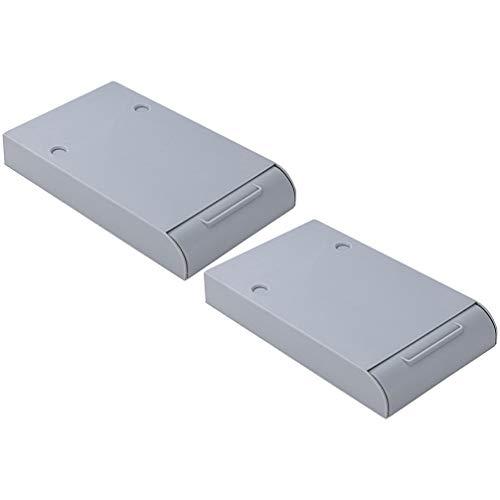 Garneck - Cajón para lápices autoadhesivo para escritorio, diseño de bandeja para bolígrafos de almacenamiento de tipo cajón bajo la mesa, barra de bolígrafo de pasta oculta para papelería
