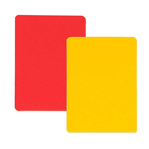Champion Sports Referee Cards (Includes 1 red and 1 yellow referee card)