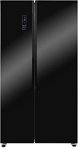 Exquisit Side by Side Kühlschrank SBS 160-4X A++ Kühlschrank | No Frost | 521 Liter | Schwarz