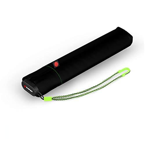 Knirps Taschenschirm Ultra US.050 Slim Manual – Ultra leicht und flach – Sturmfest – Windproof – 21 cm – Neon Black