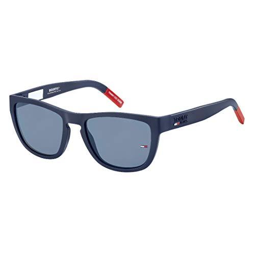 Tommy Hilfiger tj 0002/s, gafas de sol Unisex Adulto, matte blue, 52