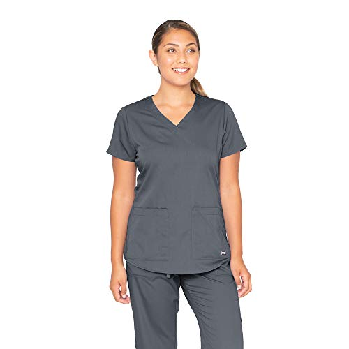 Grey's Anatomy 71166 V-Neck Top Granite S