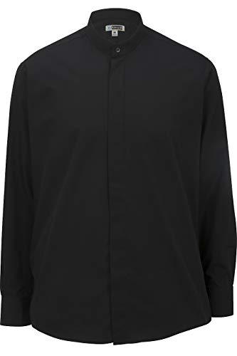 Edwards Men's Banded Collar Shirt Large Black