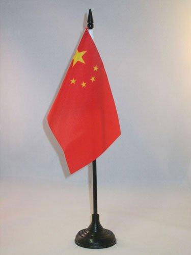 AZ FLAG Drapeau de Table Chine 15x10cm - Petit Drapeaux DE Bureau Chinois 10 x 15 cm