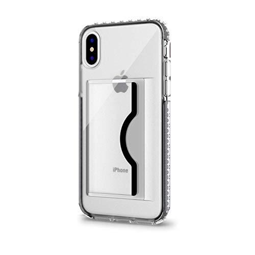 Artifit iPhoneXケース スマホケース 米軍MIL規格取得 耐衝撃 IC カード収納 Qi充電対応 TPU+TPE+PC素材 高品質 iPhone用保護 ケース V8-2970(ブラック)
