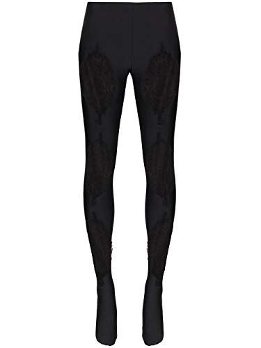 Luxury Fashion | Versace Dames AUD30018A101049A1008 Zwart Elasthaan Leggings | Herfst-winter 19