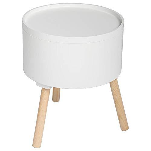 Atmosphera 2 en 1 Table Basse + Coffre de Rangement - Style scandinave - Coloris Blanc