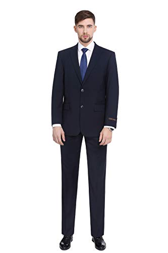 Calvin Klein Men's Slim Fit Suit Separates, Solid Navy, 38 Short