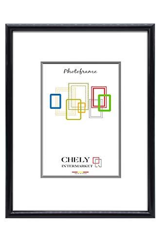 Chely Intermarket,Marco de Fotos 60x90 cm (Negro) Grandes para Pared MOD-312. Decoración | Fotografías de Boda | Listado de Precio | Certificados universitarios(312-60x90-2,70)