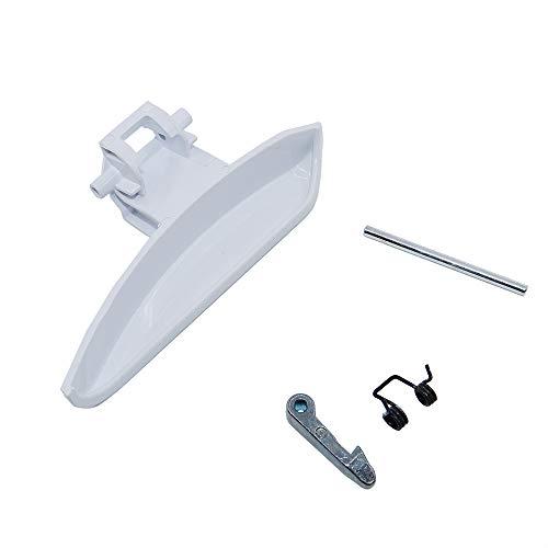 Marel Shop® - Maniglia maniglietta completa gancio nasello e molla per lavatrice compatibile con Electrolux Zanussi Rex Zoppas