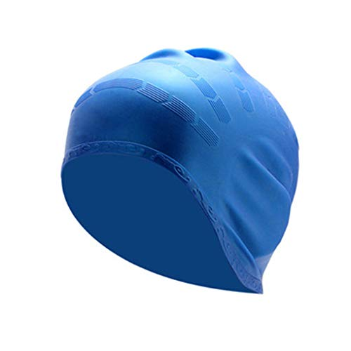 Floridivy Silicona Natación BOIHON Gorros de natación de Las Mujeres de Pelo Largo del Sombrero de la Cubierta Proteger los oídos Deportes Piscina Cap