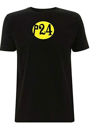 Time 4 Tee No P24 - Camiseta para cualquier domingo inspirada en McQueen 400 Cross Steve Scrambler Moto X Película Motocicleta Ciclismo Ciclista Negro Negro ( S