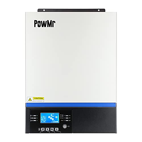 PowMr 5000W Solar Hybrid Inverter, Off-Grid Pure Sine Wave Inverter 48V DC to 220-230V AC Built-in 80A MPPT Solar Controller, Work with 48v Lead-Acid and Lithium,Support Utility/Generator/Solar Charge