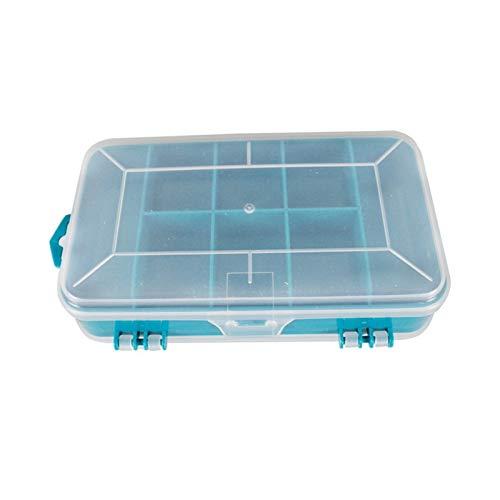 Aufbewahrungskiste 13 Gitter tragbare transparente Schrauben Aufbewahrungsbox doppelt seitlich multifunktionaler Speicherwerkzeugkoffer-Kunststoffkoffer Die täglichen Erfordernisse ( Color : Green )
