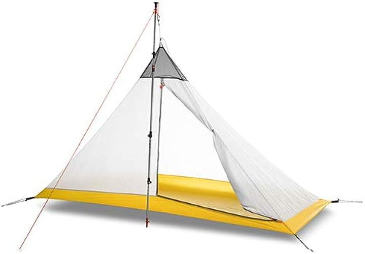 Pyramide Tente de Camping Intérieure Double Face Fermeture en Nylon Camping en Plein Air