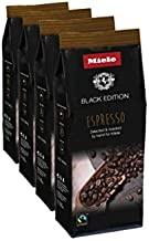 Miele Black Edition Espresso Hand-Selected & Hand-Roasted Whole Coffee Beans - USDA Organic, Fair Trade Certified - 8.8 oz (250g), 4 Pack