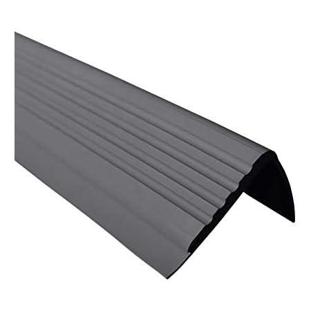PVC Treppenkantenprofil Selbstklebend Winkelprofil Anti-Rutsch Treppenkante 50x40mm Messing 0,80m