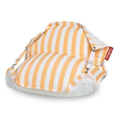 Fatboy® Original Floatzac Stripe Yellow | Sitzsack an Land & im Wasser | Schnelltrocknender & schwimmender Wasser-Sitzsack | 180 x 134 cm