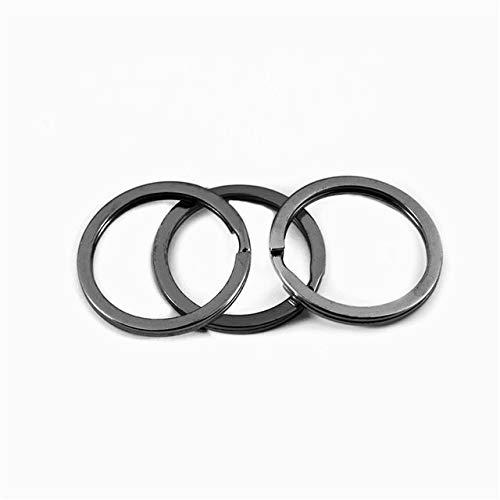 DEWEI 10pcs/lot 25mm 28mm 30mm Keyring Split Ring Key Ring For Key Chain Keychain Making Sleutelhanger Key Rings-gun clack,30mm