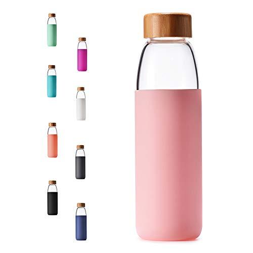 Veegoal 18 Oz Glass Water Bottles