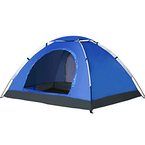 WZP- Pop Up Tent for 3-4 Person Automatic Opening Hydraulic Double Layer Tent - Ultra Large Waterproof Dome Tent with Porch - 100% UV Protected Family Camping Tents with Carrying Bag,royal blue