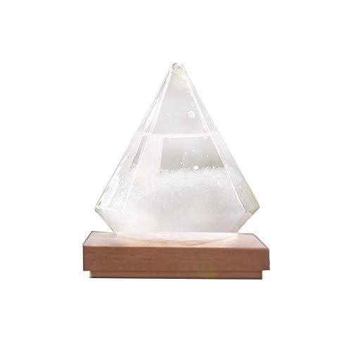 starter Kleine Sturmglas Wetterstation Cloud Storm Kristall Wettervorhersage Flasche Mit Holzsockel Kreative Stilvolle Dekorative Desktop Wetter Vorhersage Wassertropfen Für Zuhause Und Büro