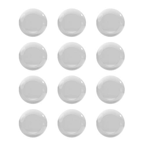 Protector de pared para tapón de puerta, 12 piezas de silicona transparente,...