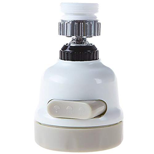 MOMAMO Wasserhahn-Luftsprudler, Wasserhahn-Sprüher, 360-Grad-drehbarer Schwenkkopf,3 Geschwindigkeiten, Anti-Spritzwasser, Wasserhahn, Düse, Filter,Luftsprudler für Küche und Badezimmer