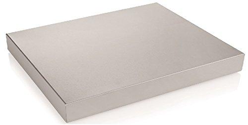 getgastro GN Kühlplatte aus Chromnickelstahl - passend für GN 1/1, integrierter Kühlakku, erhältlich in GN 1/1 oder GN 1/2 (A2 - GN 1/2)