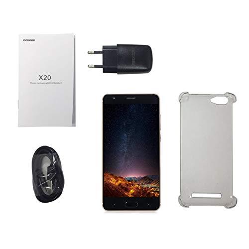Dailyinshop DOOGEE X20 5.0 Pulgadas Pantalla HD Teléfono móvil 2GB RAM 16GB ROM Cámara Trasera Doble Teléfono 3G Quad Core para Android