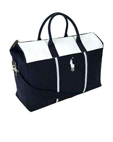 Ralph Lauren Blue & White Duffle Bag