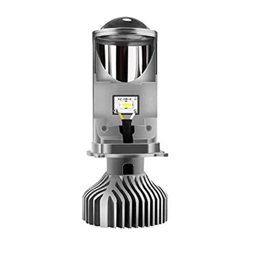 YUANKAIBIANHUODIAN Lámpara de 90W / par H4 LED Mini Proyector Lens Automoblebles Bulb 2000 0LM Kit DE CONVERSIÓN HI/LO FUDARIO DE Fuero 1 2V24V RHD LHD