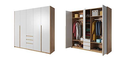 Furniture24_eu Kleiderschrank Schrank Drehtürenschrank XELO 230 (Ohne Beleuchtung)