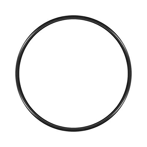 Uxcell junta tórica de goma de nitrilo, 160 mm de diámetro interior, 170 mm de diámetro exterior, 5 mm de ancho, junta de sello redondo (paquete de 1)